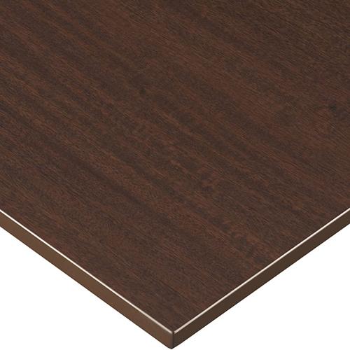 プロシード(丸二金属) テーブル天板 メラミン化粧板MDF(木口塗装) ST942-BR-N 幅600×奥行750×高さ23(mm) 業務用 送料無料