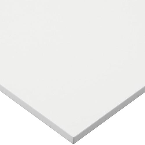 プロシード(丸二金属) テーブル天板 メラミン化粧板MDF(木口塗装) ST942-WH-N 幅600×奥行750×高さ23(mm) 業務用 送料無料