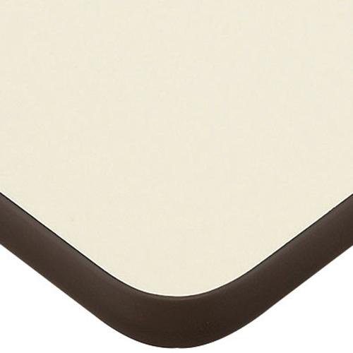 プロシード(丸二金属) テーブル天板 メラミン化粧板(ソフトエッジ) ST948-ID-M 幅1200×奥行750×高さ30×角30R(mm) 業務用 送料無料