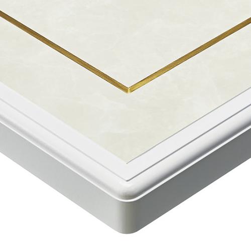 プロシード(丸二金属) テーブル天板 メラミン化粧板(真鍮入) ST958-GW-B 幅500×奥行500×高さ22×厚み22(見附36)(mm) 業務用 送料無料