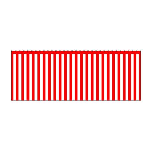 【紅白幕(綿) 180cm×5間】のぼり屋工房 1957【業務用】【グループC】