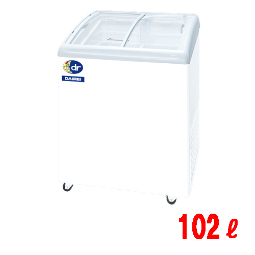 【業務用】無風冷凍ショーケース 102L -25度タイプ 幅680×奥行650×高さ880 [RIO-68e]キャスター付