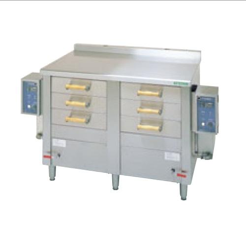 【業務用】【新品】 タニコー 電気式引出型蒸器 EM-6W 幅1520×奥行750×高さ900 単相200V 【送料無料】
