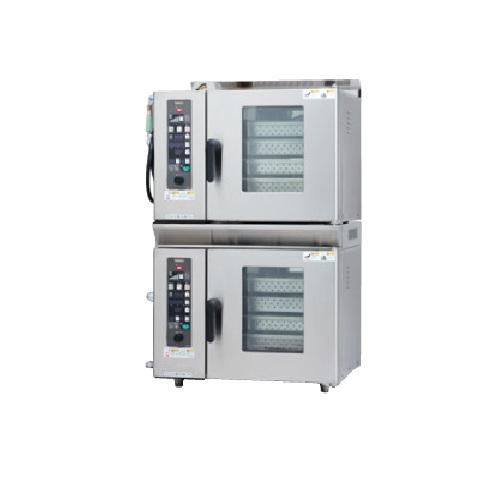 【業務用/新品】【スチコン】【タニコー】ガススチームコンベクションオーブン 二台重ねタイプ TSCO-44GBN3 幅750mm×奥行685mm×高さ1180 (50/60Hz)【送料無料】