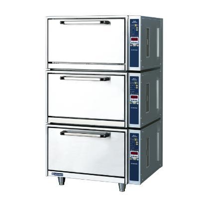 【業務用】電磁立体炊飯器 3段タイプ 3から6kg×3段【MIRC-27N】【ニチワ電気】幅770×奥行650×高さ1345