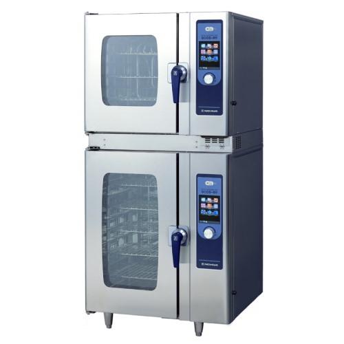 【業務用/新品】【スチコン】【ニチワ電機】電気スチームコンベクションオーブン 架台付 SCOS-6101RY-L(R) 幅900×奥行895×高さ1865mm (50/60Hz)【送料無料】