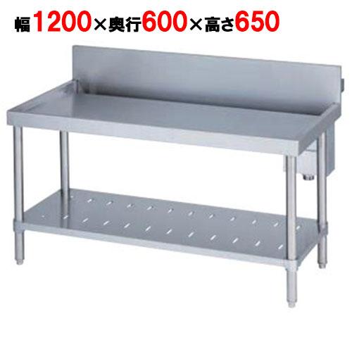 【業務用/新品】【マルゼン】 作業台 調理台三方枠 バックガードあり BW-T066 幅600×奥行600×高さ800mm 【送料無料】
