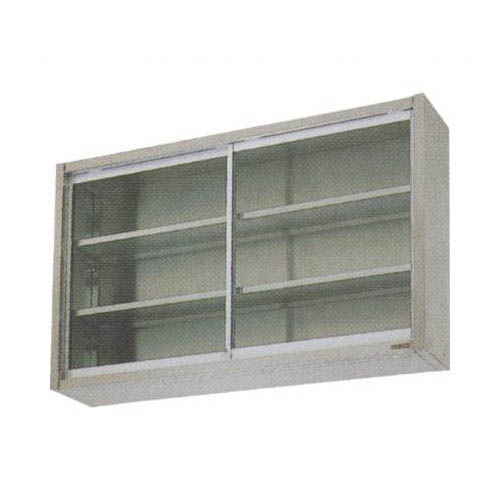 【業務用/新品】【マルゼン】吊戸棚 ガラス戸 BCS9-0730 幅750×奥行300×高さ900mm 【送料無料】