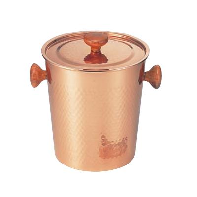 【業務用】銅製 アイスペール 木柄蓋付【S-5481L】【グループA】