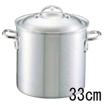 アルミ ニューキング 寸胴鍋 (目盛付) 33cm 【業務用】【送料無料】