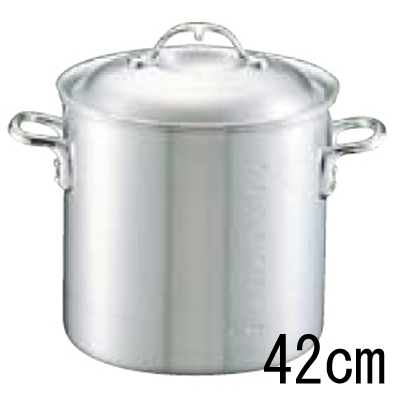 アルミ ニューキング 寸胴鍋 (目盛付) 42cm 【業務用】【送料無料】