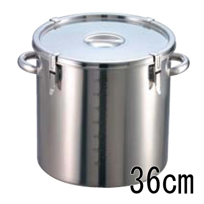 EBM 18-8 パッキン寸胴鍋 (目盛付) 36cm 【業務用】【送料無料】