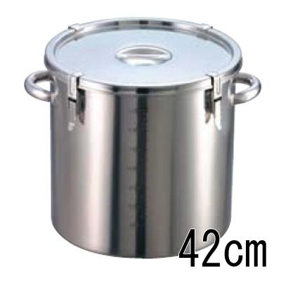 EBM 18-8 パッキン寸胴鍋 (目盛付) 42cm 【業務用】【送料無料】