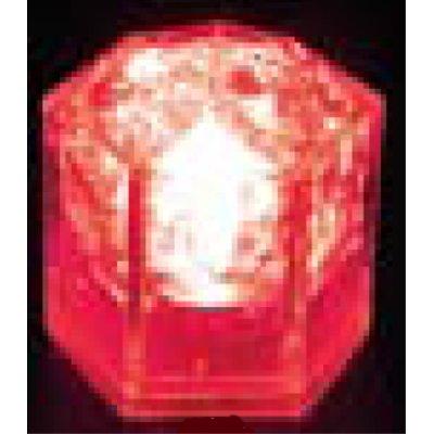 光る氷ライトキューブ(24入) クリスタルタイプ レッド 【業務用】【送料無料】
