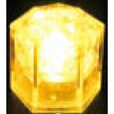 光る氷ライトキューブ(24入) クリスタルタイプ イエロー 【業務用】【送料無料】