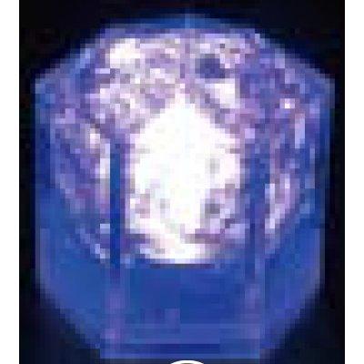 光る氷ライトキューブ(24入) クリスタルタイプ ブルー 【業務用】【送料無料】