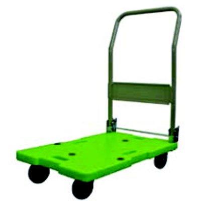 樹脂台車 (ハンドル折りたたみ式) LSK-311 【業務用】【送料無料】