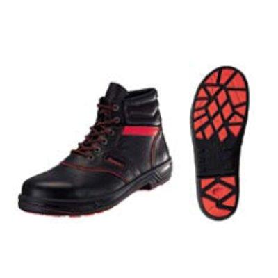安全靴 シモンライト SL22-R 黒/赤 23.5cm 【業務用】【送料無料】