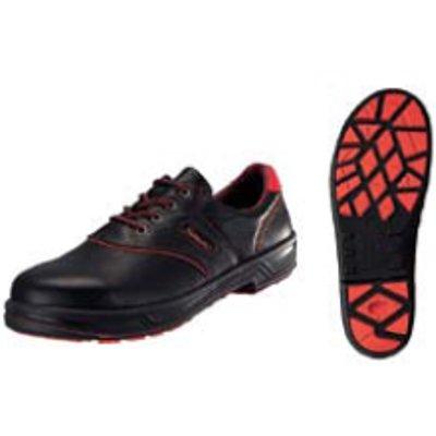 安全靴 シモンライト SL11-R 黒/赤 25cm 【業務用】【送料無料】