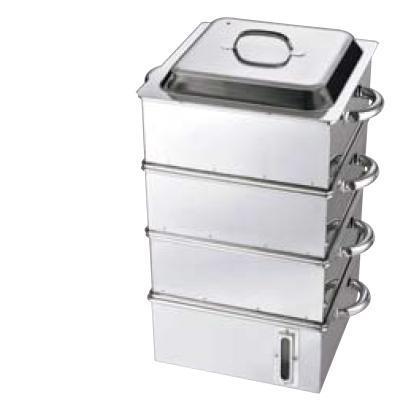 電磁専用 業務用角蒸器 (水量計付) 42cm 2段【送料無料】【業務用】