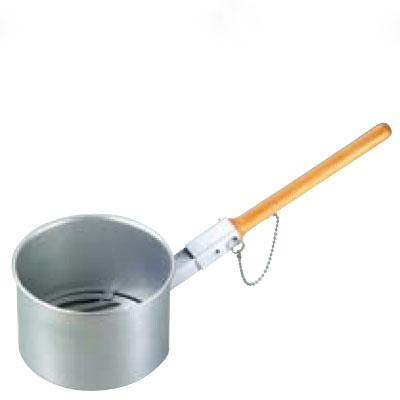【業務用】鉄鋳物目皿付 ジャンボ火起し(木柄差込式) 特大