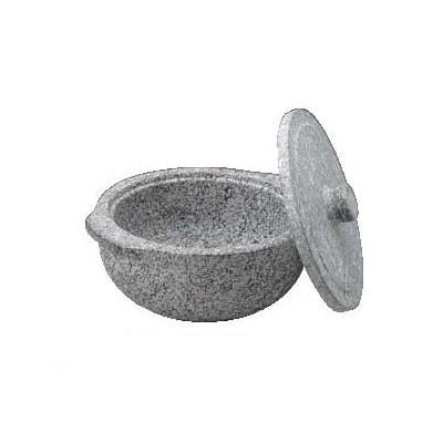 石鍋 (石蓋付) 土鍋風 長水 遠赤 22cm 【業務用】