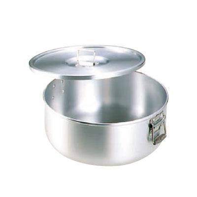 炊飯鍋 ガス用 丸型 蓋付 アルミ 12.6L(7升用) 【業務用】【送料無料】