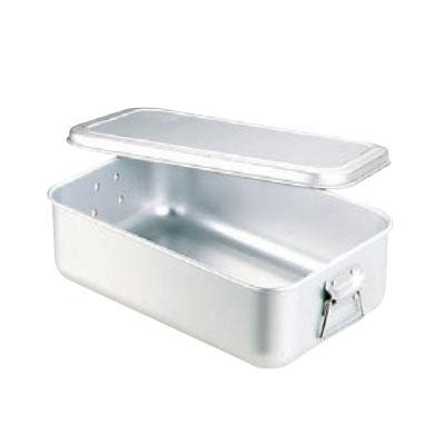 炊飯鍋 蒸気用 蓋付 アルマイト 6.3L(3.5升用) 【業務用】【送料無料】
