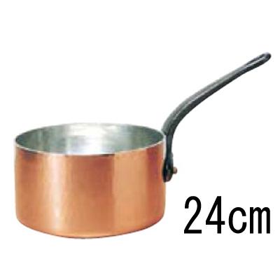 モービル 銅 キャセロール (蓋無) 2143-24 24cm 【業務用】【送料無料】