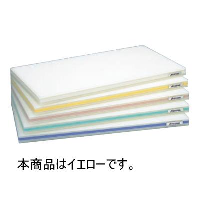 ポリエチレンかるがるまな板SD/標準タイプ (両面シボ付) 600×300 25mm イエロー 【業務用】【送料別】