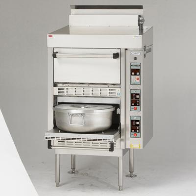 【炊飯器】【コメットカトウ】炊飯器 ガス式低輻射タイプ【CRA-100NS-PS】幅780×奥行740×高さ1530mm【送料無料】【業務用】【新品】