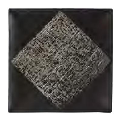 【レーテ】 【スクエアプレート (L) 27cm ブラック】【4入】 【スクエアプレート】 【Rete】 【洋食器】【業務用】【グループS】