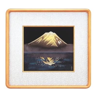 新品 額 色紙銀額(隅丸)銀富士山 幅445mm×奥行420mm/業務用/新品