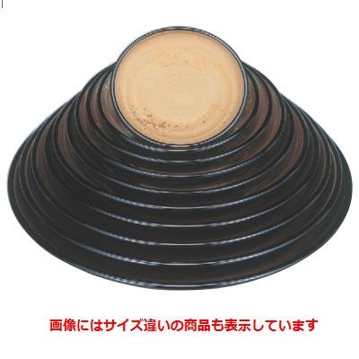 【錦盛皿黒内色紙金箔尺4寸 SH塗】 高さ48 直径:423 【樹脂製】【業務用】【グループI】