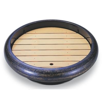 ビュッフェプレート 尺4寸S.D.X回転盛桶 紫金カスリ 木製目皿付 高さ128 直径:476 /業務用/新品
