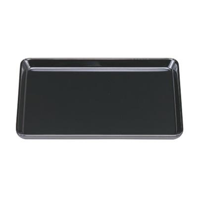 お盆 名刺盆黒(本漆塗)8寸 幅242 奥行168 高さ19/業務用/新品
