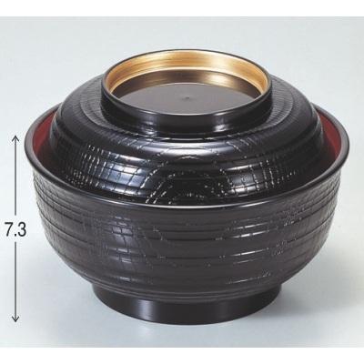 丼碗  漆器 高さ73 直径:150