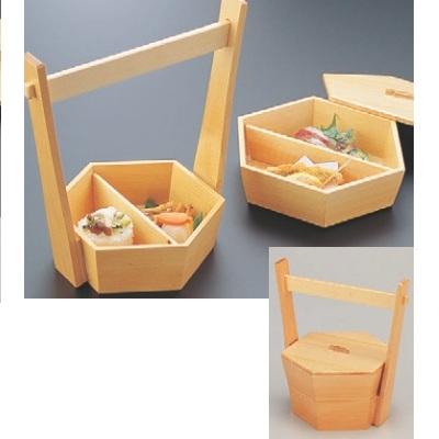 弁当箱 手桶2段弁当 幅252 奥行207 高さ260/業務用/新品