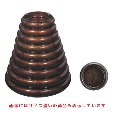 寿司桶 【S.D.X桶黒シルク刷毛目尺3寸 エ-ス塗】 高さ74 直径:438 【業務用】【グループI】