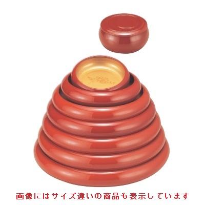 寿司桶 【寿冠鉢色紙金箔外朱尺5寸】 高さ69 直径:495 【業務用】【グループI】