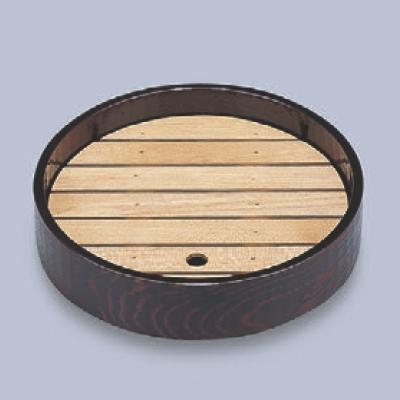 盛器 (大)尺1寸丸盛器溜 高さ63 直径:330/業務用/新品