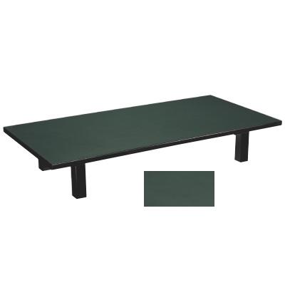 座卓 メラミン グリーン(折足) グリーン 幅1200 奥行600 高さ325/業務用/新品