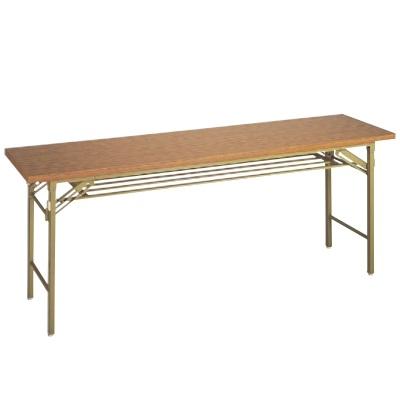 テーブル 会議用テーブル メラミンチーク(共ブチ) 幅1500 奥行450 高さ700/業務用/新品