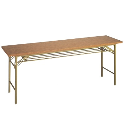 テーブル 会議用テーブル メラミンチーク(共ブチ) 幅1500 奥行600 高さ700/業務用/新品