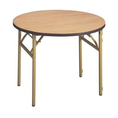 テーブル 白木テーブル丸(ソフトエッジ) 高さ700 直径:1800/業務用/新品