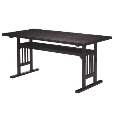 テーブル 格子脚型テーブル メラミン黒木目 幅1200 奥行750 高さ700/業務用/新品