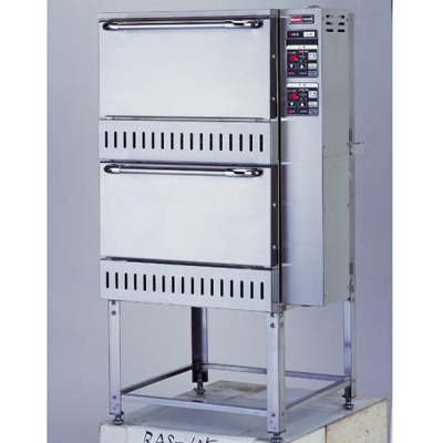 【業務用】ガス立体型炊飯器立体型・自動消火式 5升(9.0L)×2 【RAS-105】【リンナイ】幅700×奥行688×高さ1,238【送料無料】