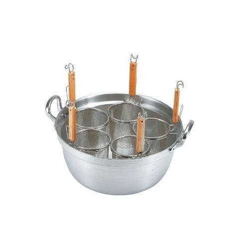 【デカてぼ 茹麺鍋セット(リング付)16cm用 51-16cm用】 カンダ【業務用】【グループN】