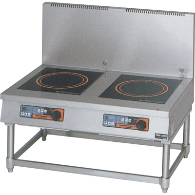 【プロ用/新品】【マルゼン】IH調理器 スープレンジ5kW 皿加熱機能・タイマー付 MIHL-55C 幅900×奥行600×高さ450(mm)【送料無料】