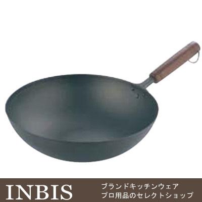 純チタン 木柄 いため鍋 28cm 【業務用】【送料無料】
